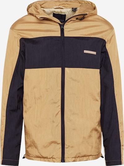 SCOTCH & SODA Jacke 'Club Nomade easy jacket with color block' in beige / schwarz / silber, Produktansicht