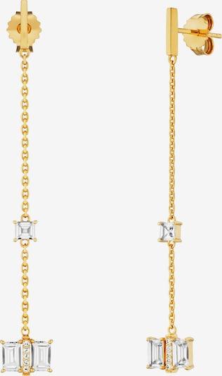 caï Ohrhänger in gold / weiß, Produktansicht