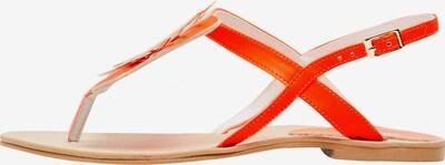 MYMO Séparateur d'orteils en or / orange foncé: Vue de face