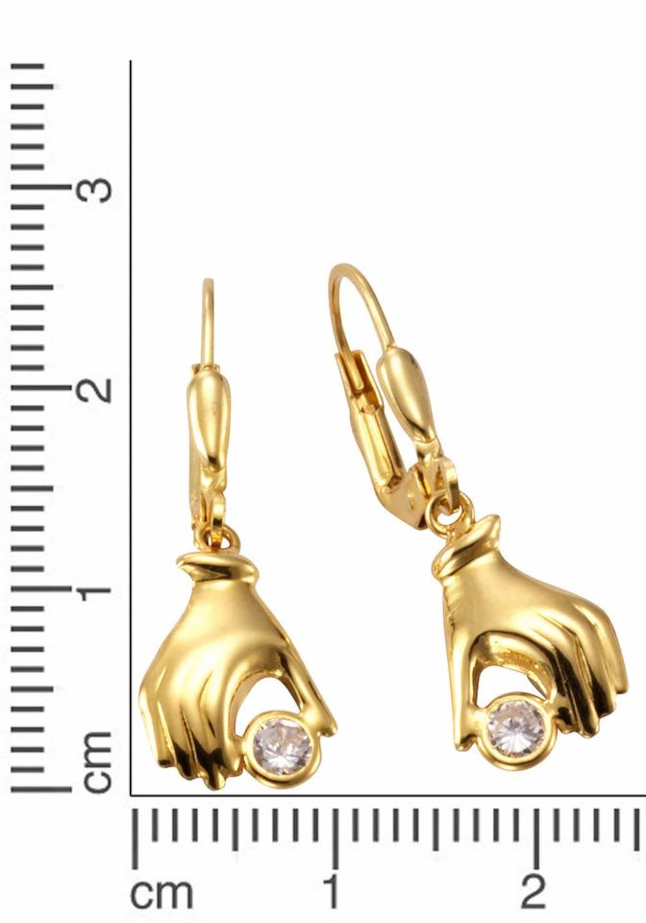FIRETTI Paar Ohrhänger »Hände« Verkauf Billig FJd4V1y
