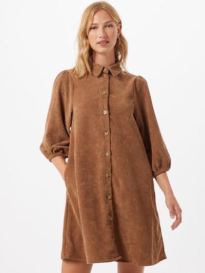 Moves Košeľové šaty 'Halo' - karamelová: Pohľad spredu