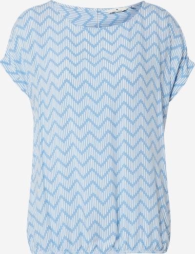 TOM TAILOR Bluse in taubenblau / weiß, Produktansicht