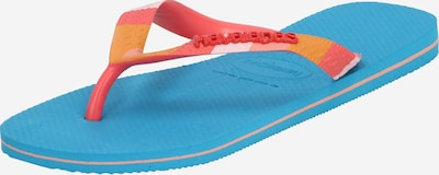 HAVAIANAS Iešļūcenes ar pirkstu atdalītāju 'VERANO' zils / oranžs, Preces skats