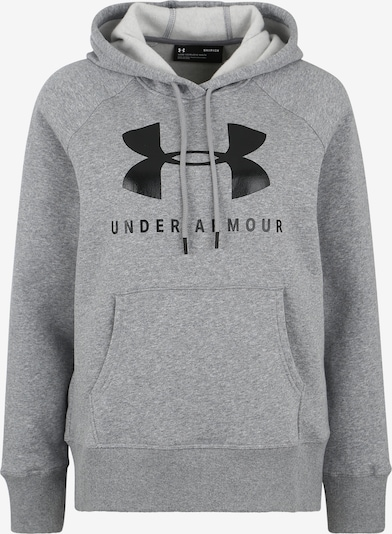 UNDER ARMOUR Sportsweatshirt 'RIVAL FLEECE SPORTSTYLE' in grau / schwarz, Produktansicht