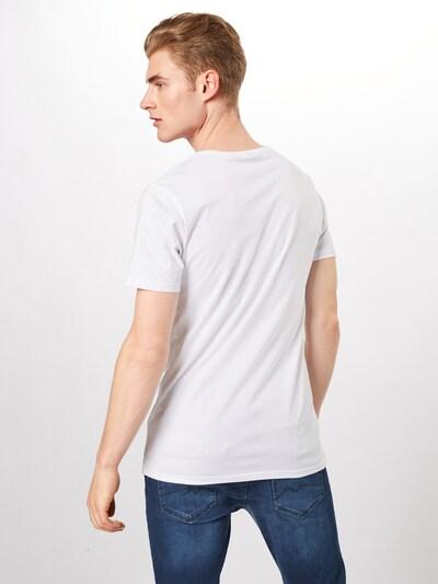 Tricou 'Mickey College' Mister Tee pe alb: Privire spate