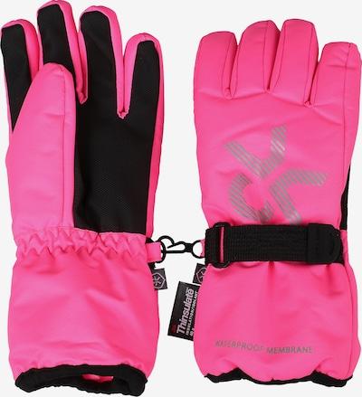 COLOR KIDS Fingerhandschuhe 'Savoy' in pink / schwarz, Produktansicht