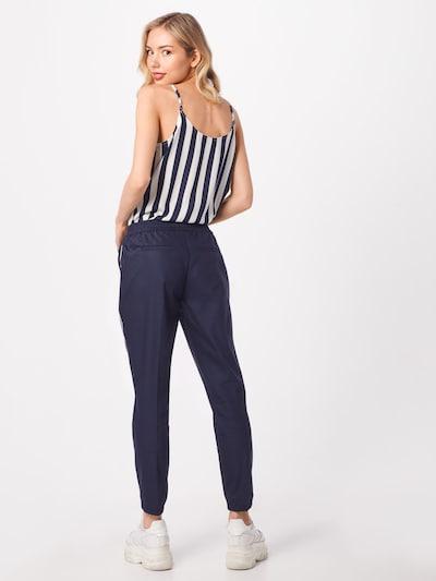 Glücksstern Pantalon 'Emily' en bleu foncé: Vue de dos