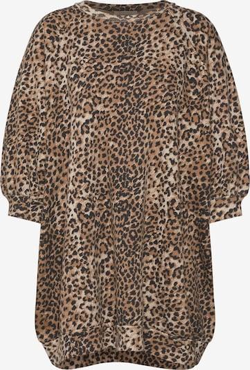 Ragdoll LA Mikina 'Super Oversized Flame Sweatshirt' - hnědá / černá, Produkt