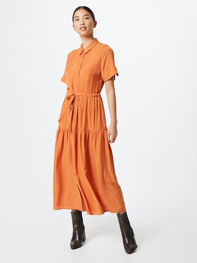 OBJECT Kleid in orange, Modelansicht
