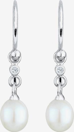 Diamore Perlenohrhänger in silber / perlweiß, Produktansicht