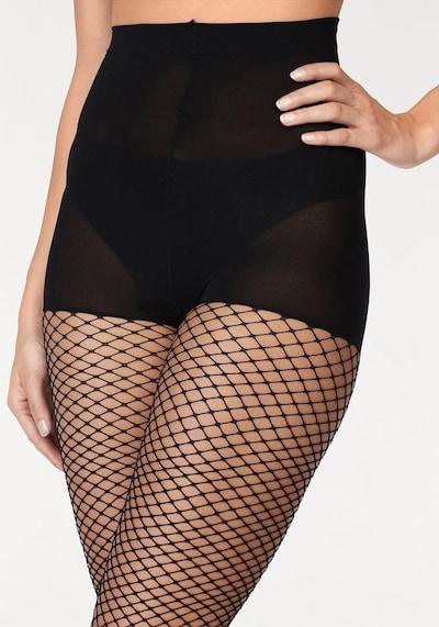 GLAMORY Netzstrumpfhose mit verstärktem Höschenteil in schwarz, Produktansicht
