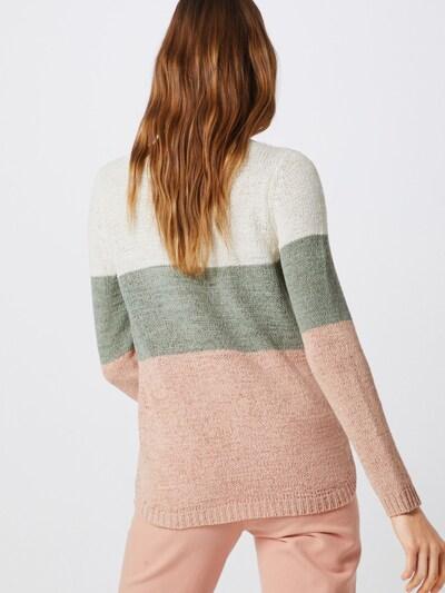 ONLY Strickpullover 'GEENA' in grün / rosa / weiß: Rückansicht