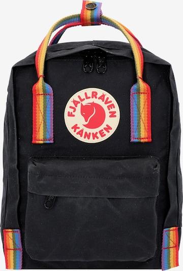 Fjällräven Kanken Rainbow Mini City Rucksack 28 cm in rot / schwarz, Produktansicht