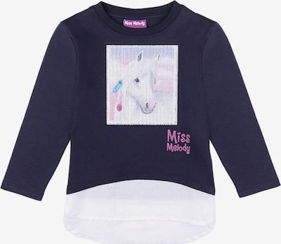 Miss Melody Sweatshirt in dunkelblau / weiß, Produktansicht