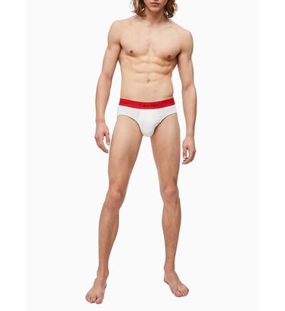 Calvin Klein Underwear Slip in de kleur Rood / Wit, Modelweergave