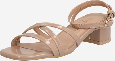 NEW LOOK Sandale 'VANILLA - PAPU MULTI STRAP LOW BLOCK' in beige, Produktansicht