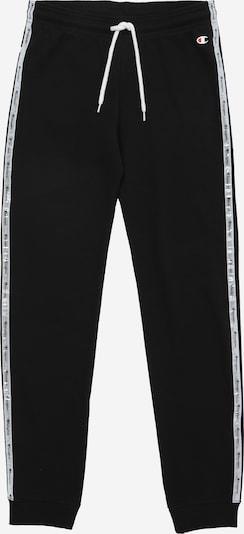 Champion Authentic Athletic Apparel Pantalon 'Rib Cuff' en noir / blanc perle, Vue avec produit