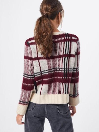 Megztinis 'SANDY' iš ONLY , spalva - kremo / raudona: Vaizdas iš galinės pusės