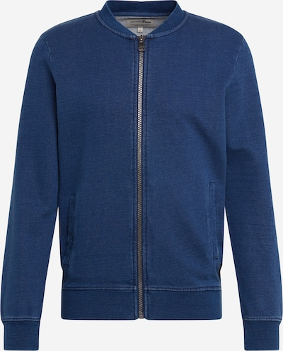 TOM TAILOR DENIM Sweatjacke in dunkelblau, Produktansicht