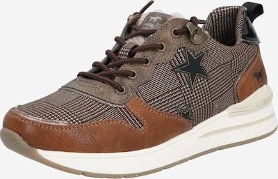 MUSTANG Sneaker in cognac / schwarz: Frontalansicht