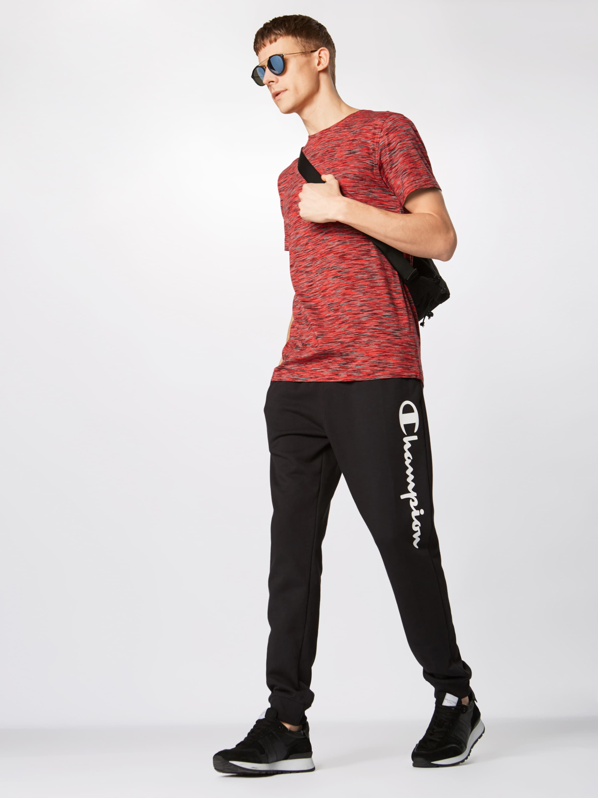 'striped shirt T Classics Urban RougeNoir Tee' Melange En EWHY92ID