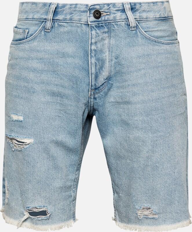 Q S designed by Shorts in Blau denim  Neuer Aktionsrabatt