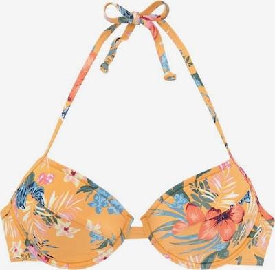 BENCH Bikinitop 'Maui' in gelb / mischfarben, Produktansicht