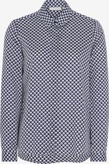 ETERNA Bluse in kobaltblau / weiß, Produktansicht