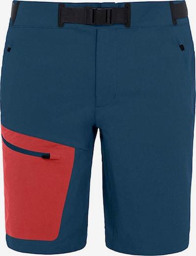 VAUDE Shorts 'Badile' in blau / rot, Produktansicht