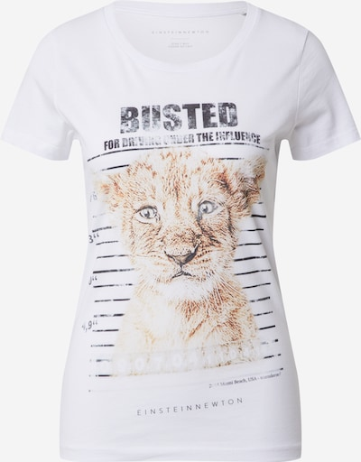 EINSTEIN & NEWTON Shirt 'Busted' in de kleur Beige / Zwart / Wit, Productweergave
