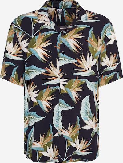 Urban Classics Košeľa - zelená / broskyňová / čierna, Produkt