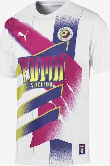 PUMA Fußballtrikot 'Retro' in blau / gelb / cyclam / weiß, Produktansicht