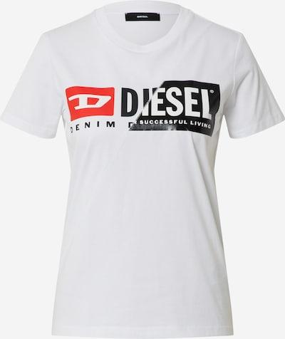 Tricou DIESEL pe roșu / negru / alb, Vizualizare produs