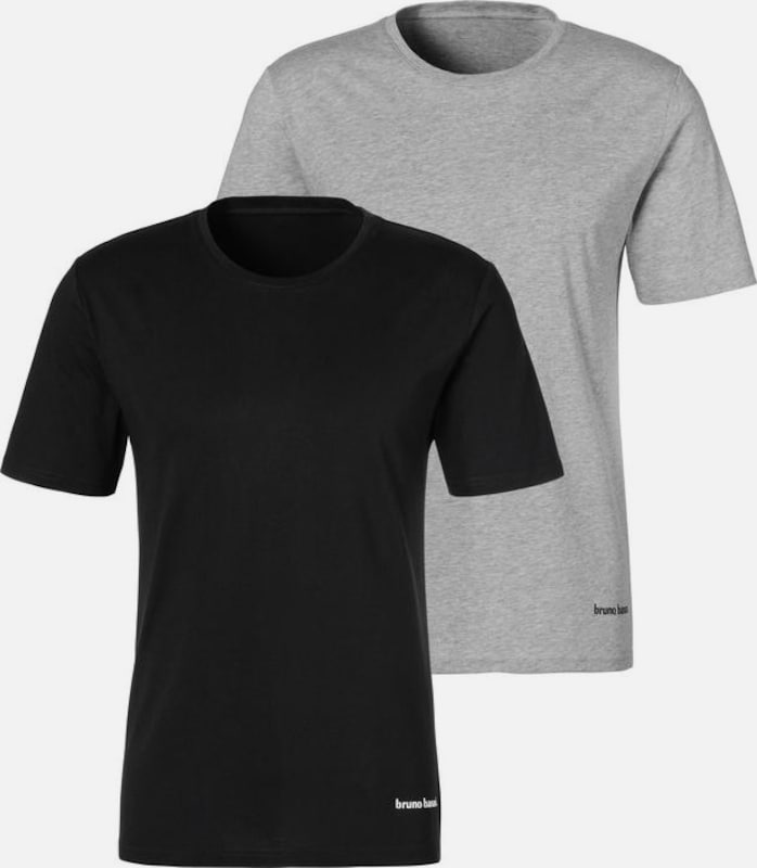 Bruno Banani T shirt Gelb Graumeliert Schwarz Herren