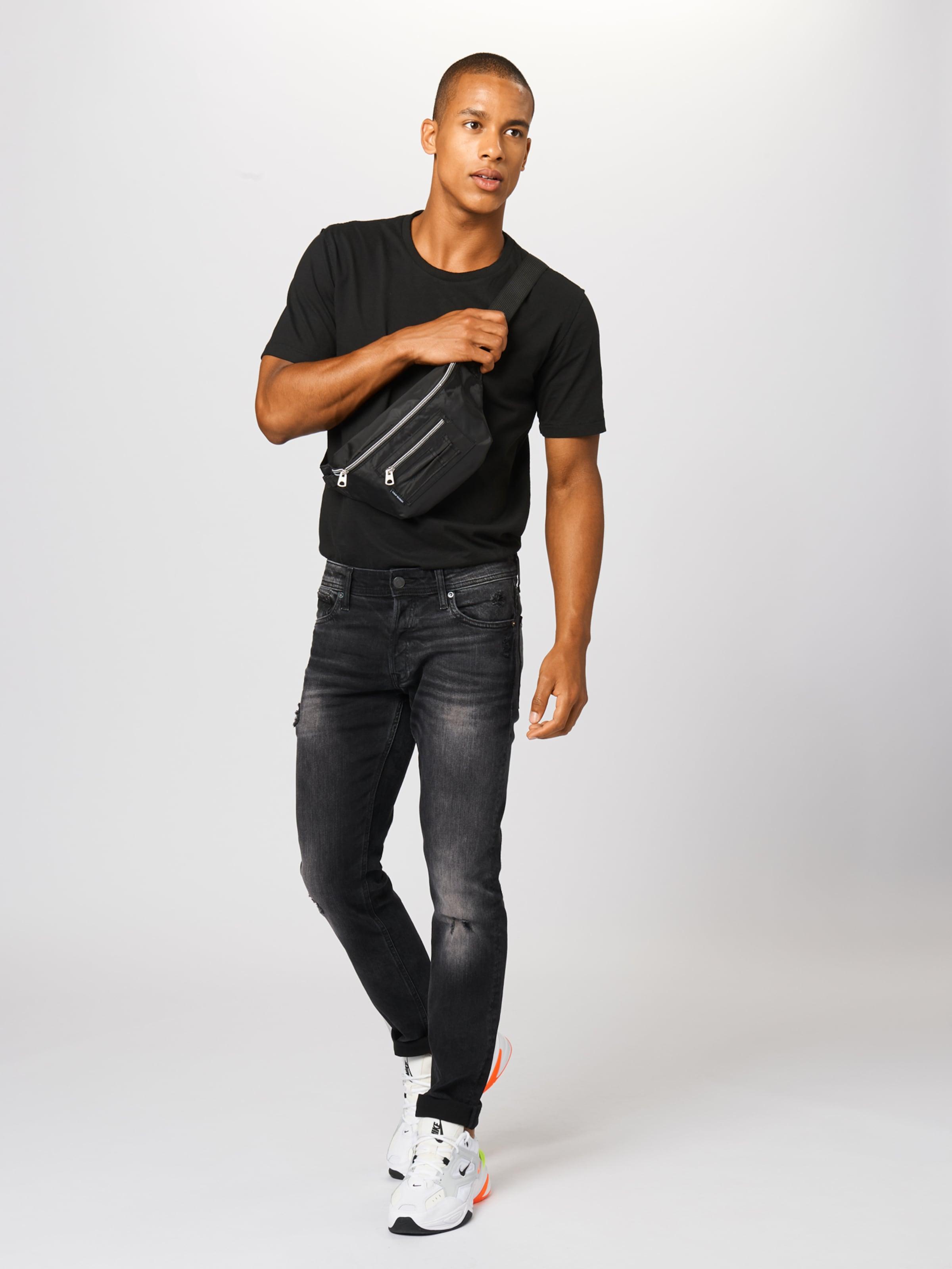 JACK & JONES Jeans 'IGLENN' i svart denim