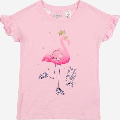 OshKosh Shirt 'Hi-Low SS Ruffle Top Flower Pot Flaming' in pink, Produktansicht
