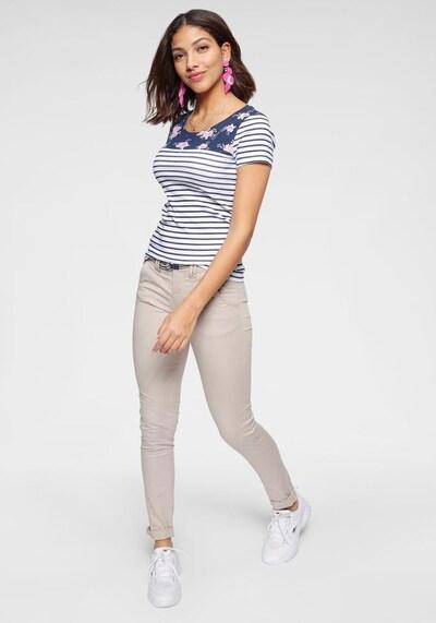 KangaROOS T-Shirt in blau / weiß: Frontalansicht