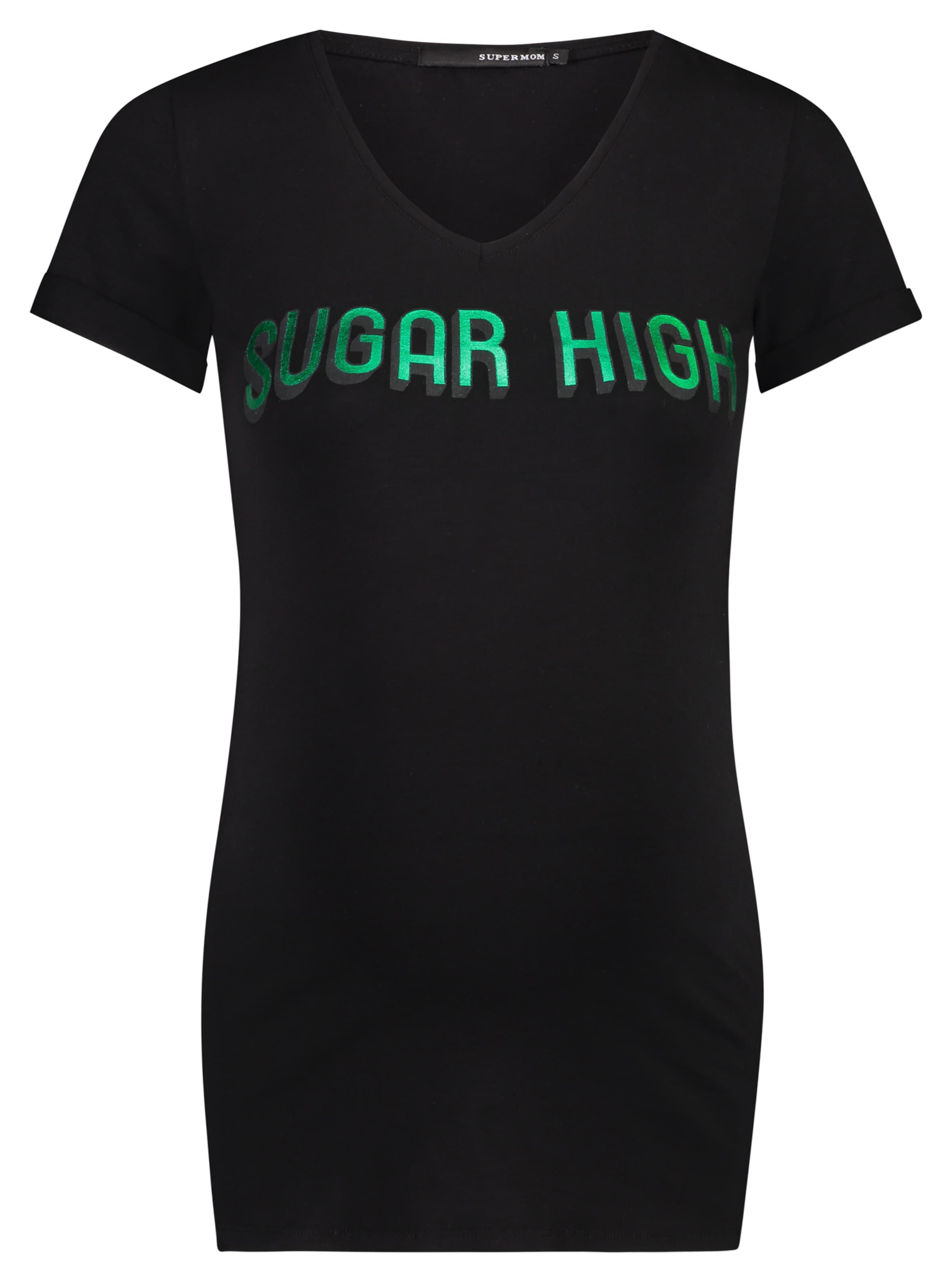 In High' T 'sugar Supermom shirt HellgrünSchwarz n0vmw8N
