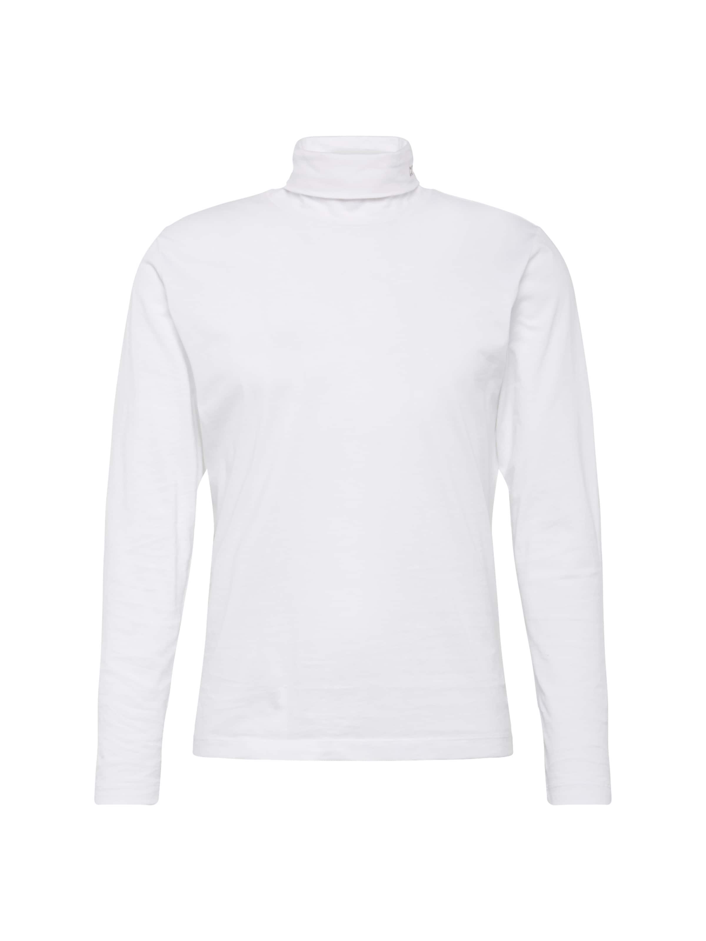 Weiß Tn In 'ckj Shirt Ls' Jeans Calvin Neck Slim Embroidery Klein yfYbg76