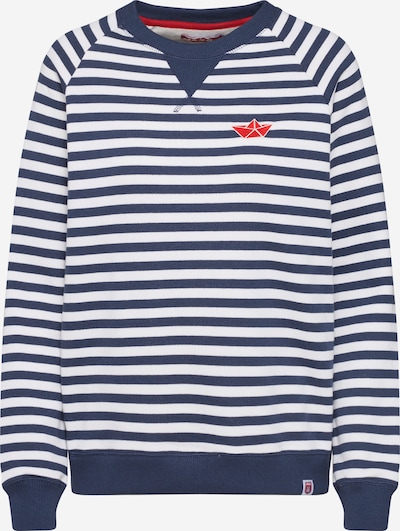 Derbe Sweatshirt 'SEA Crew' in navy / offwhite, Produktansicht