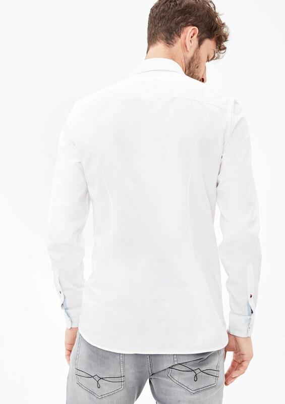 s.Oliver RED LABEL Slim: Hemd aus leichtem Twill