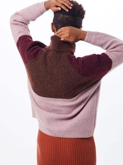 Megztinis 'CORA' iš ONLY , spalva - ruda / ryškiai rožinė spalva / vyno raudona spalva: Vaizdas iš galinės pusės