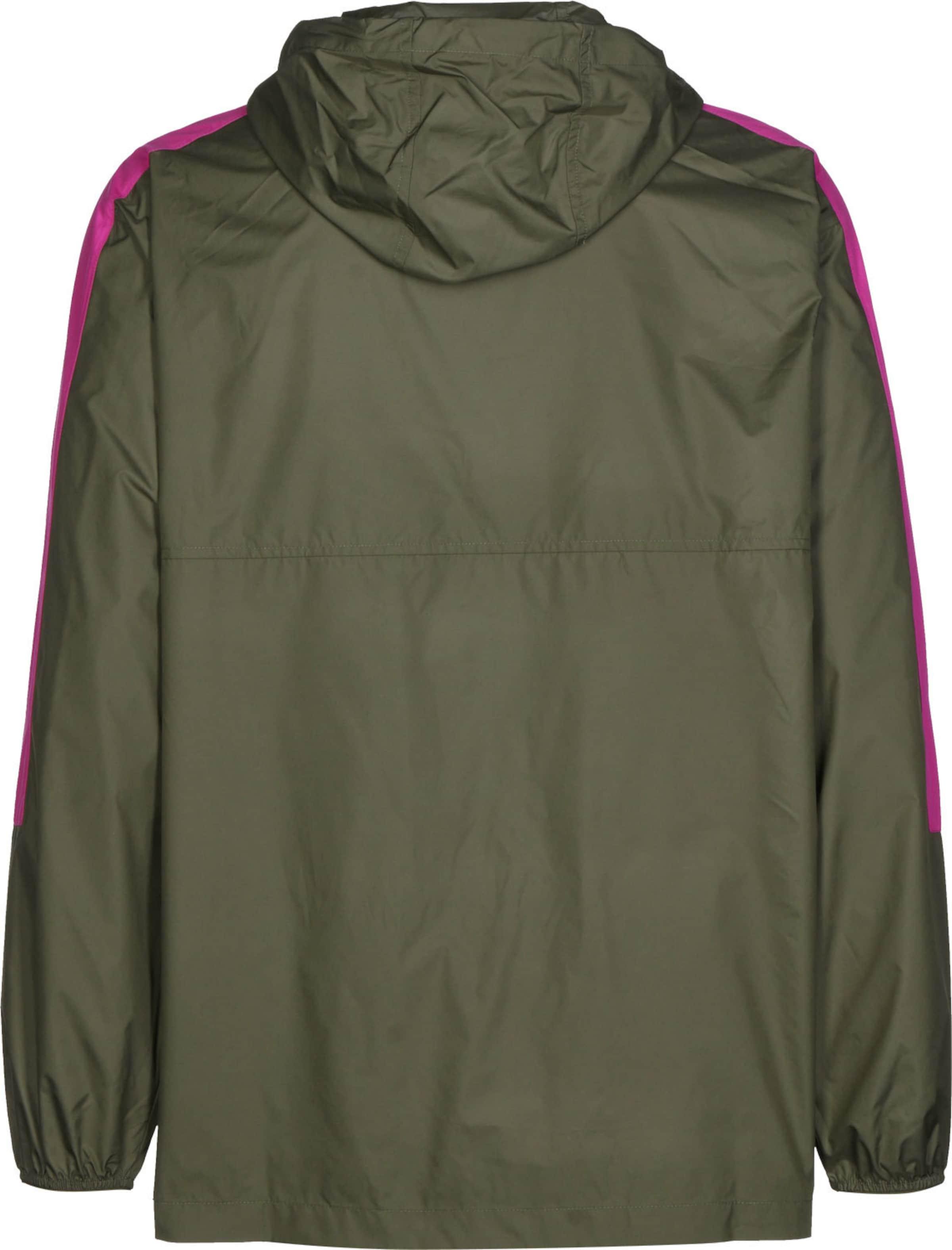 CONVERSE Windbreaker ' Packable Hooded ' in rosa Logoprint KJ42081031