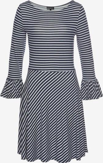 LAURA SCOTT Jerseykleid in nachtblau / weiß, Produktansicht
