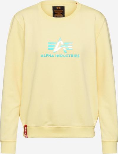 ALPHA INDUSTRIES Bluzka sportowa 'Rainbow' w kolorze żółtym, Podgląd produktu