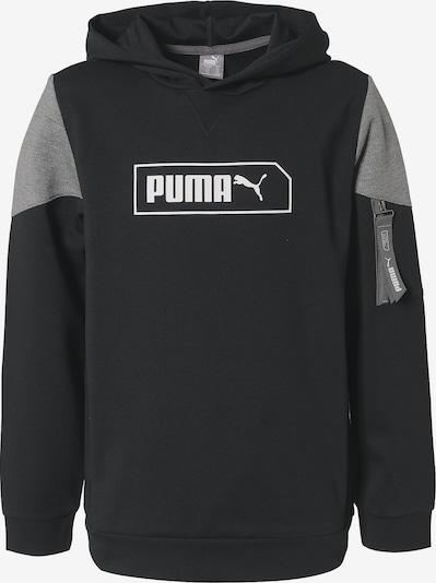 PUMA Pullover 'NU-Tility' in grau / schwarz / weiß, Produktansicht
