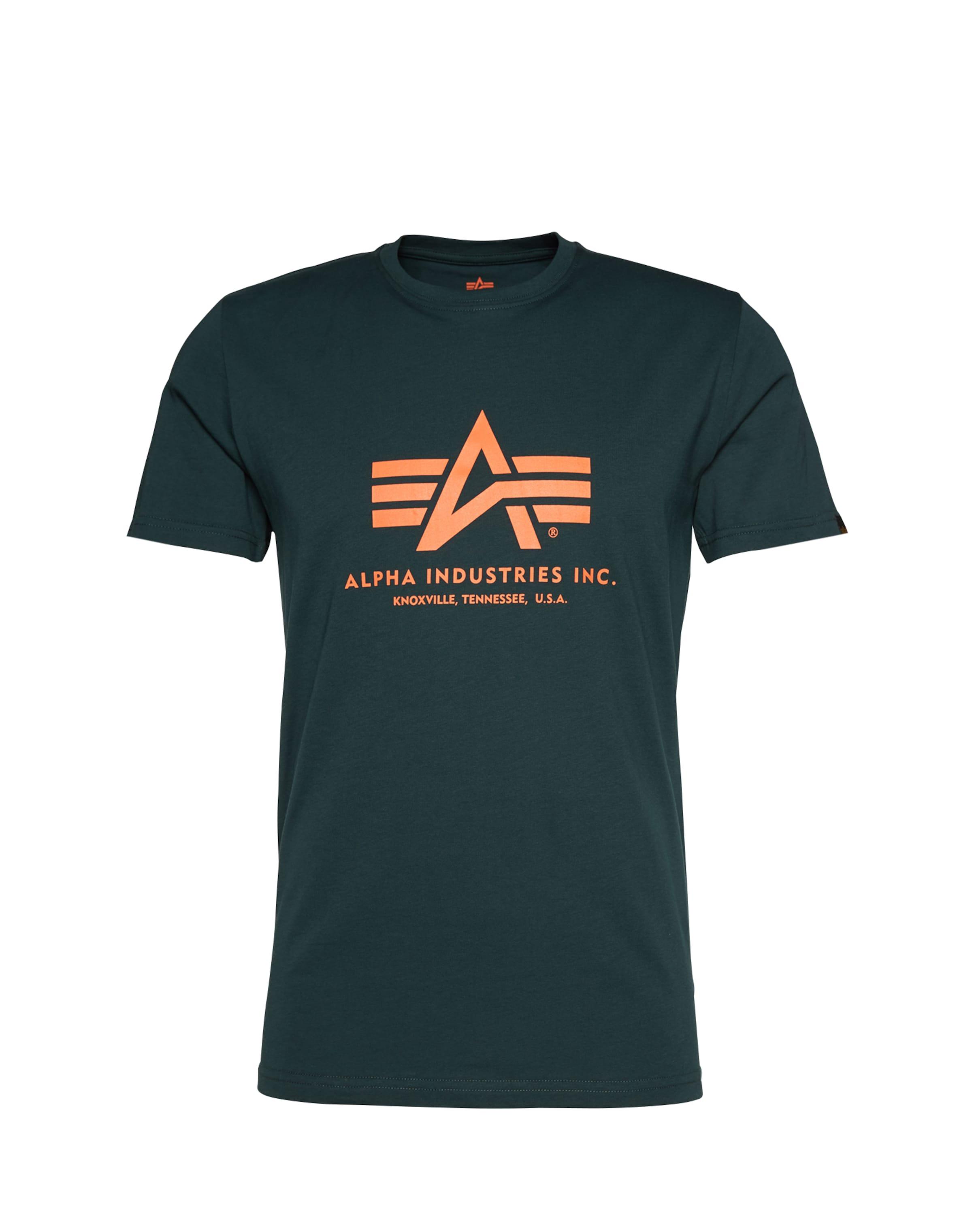 Industries En shirt T Alpha Foncé Vert 8OPXnk0w