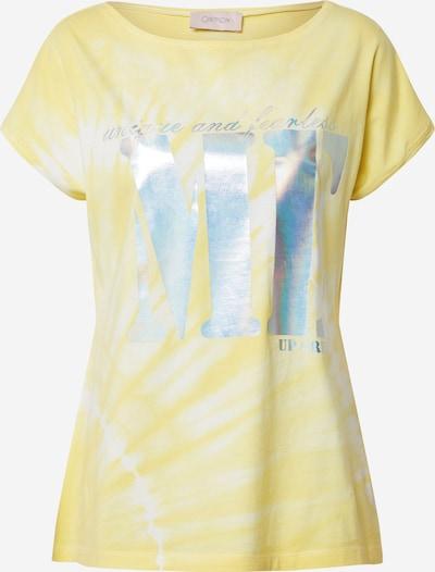 Cartoon Shirt in hellblau / gelb / silber / weiß: Frontalansicht
