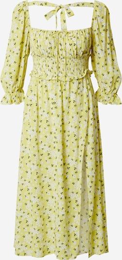 For Love & Lemons Robe d'été 'Chrysanthemum' en jaune / noir / blanc, Vue avec produit