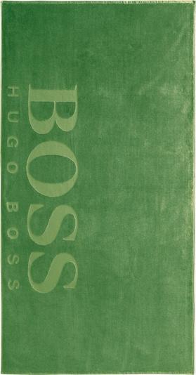 BOSS Home Strandtuch 'CARVED' in grün / mint, Produktansicht